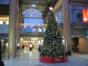 阪急宝塚駅付近のクリスマス風景(兵庫県)