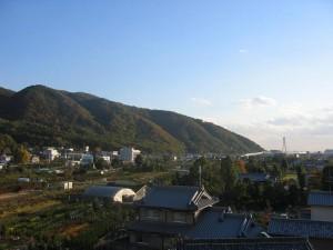 人権文化交流センターから見た景色(大阪府池田市)