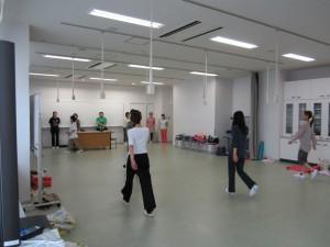 甲南女子大学 看護学科 D-PECボディワークの授業風景